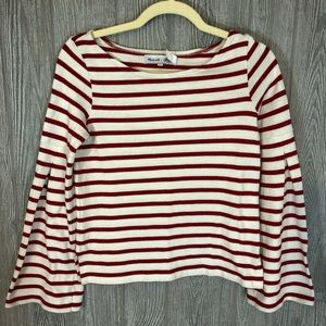 Madewell x Armor Lux Red and White Striped Sweater